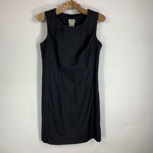 LL Bean Career Black Sheath Dress 4 Petite